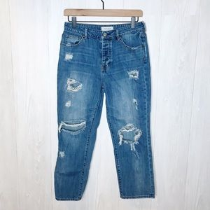 "PacSun | ""Mom Jean"" Distressed, Crop Style Sz. 27"